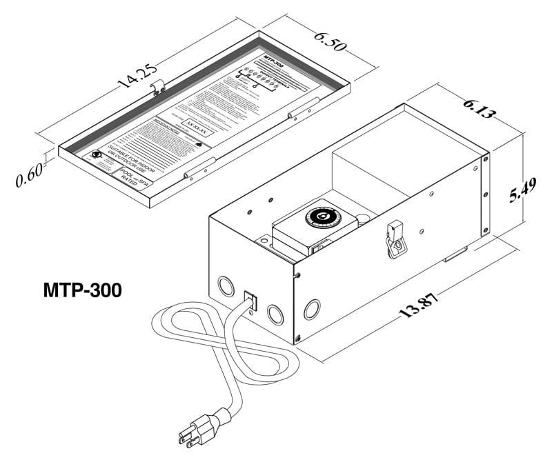 multitap  mtp  professional landscape lighting transformer