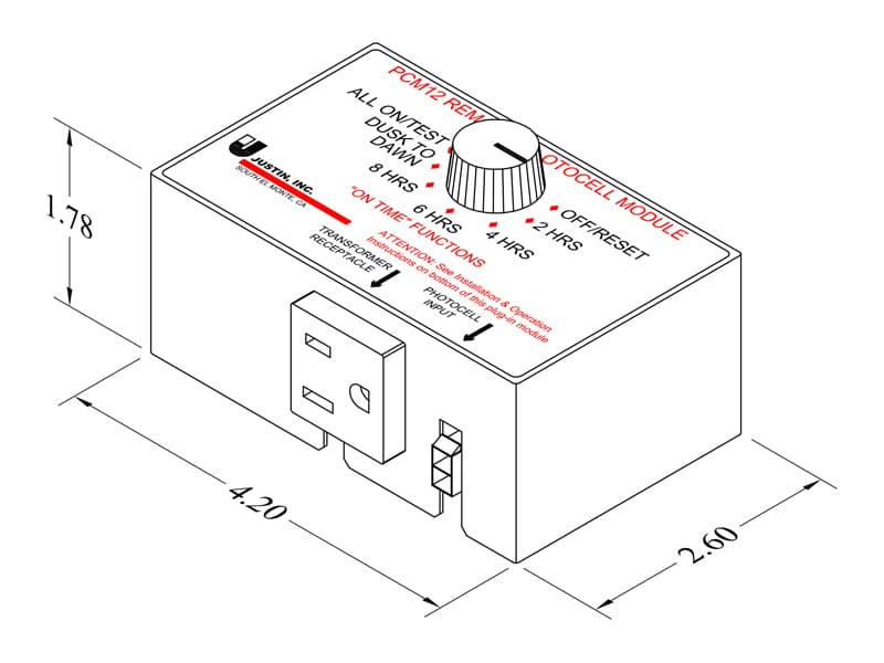 Remote Photocell Module Justin Incorporated
